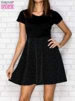 Czarna sukienka retro w groszki                                  zdj.                                  1