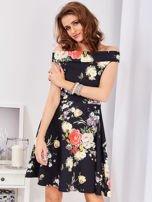 Czarna sukienka w bogate kwiatowe wzory                                  zdj.                                  7