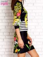 Czarna sukienka w kwiaty                                                                          zdj.                                                                         3
