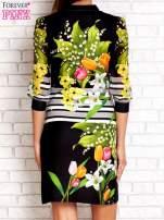 Czarna sukienka w kwiaty                                  zdj.                                  4