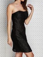 Czarna sukienka wieczorowa z błyszczącą nitką                                  zdj.                                  3
