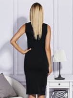 Czarna sukienka z ananasami                                  zdj.                                  2
