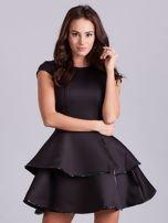 Czarna sukienka z błyszczącym wykończeniem                                  zdj.                                  5