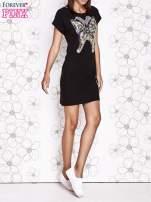 Czarna sukienka z cekinowym motylem                                  zdj.                                  6