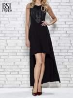 Czarna sukienka z dłuższym tyłem