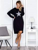 Czarna sukienka z gwiazdą                                   zdj.                                  4