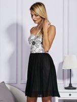 Czarna sukienka z haftowaną górą                                  zdj.                                  5