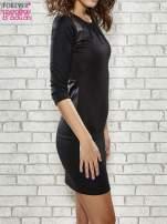 Czarna sukienka z marszczeniami przy dekolcie                                  zdj.                                  3