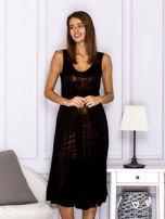 Czarna sukienka z rozkloszowanym dołem                                  zdj.                                  1
