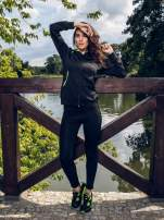 Czarna termoaktywna bluza do biegania z fluozielonymi wstawkami ♦ Performance RUN                                  zdj.                                  11