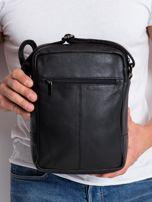 Czarna torba dla mężczyzny ze skóry                                  zdj.                                  3