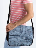 Czarna torba męska na ramię z klapką                                  zdj.                                  1