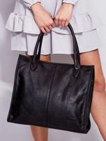 Czarna torba na ramię w miejskim stylu                                  zdj.                                  1