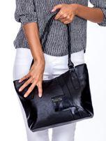 Czarna torba na ramię z ekoskóry                                  zdj.                                  2