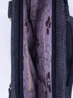 Czarna torba shopper bag z suwakiem                                                                          zdj.                                                                         4