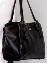 c4ac1669ef708 Czarna torba ze skóry ekologicznej - Akcesoria torba - sklep eButik.pl