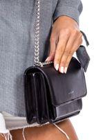 Czarna torebka na łańcuszku                                  zdj.                                  3