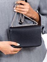 Czarna torebka na łańcuszku                                  zdj.                                  4
