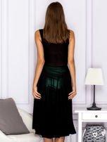 Czarna warstwowa sukienka                                  zdj.                                  2