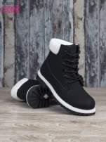 Czarne buty trekkingowe damskie traperki ocieplane                                  zdj.                                  4
