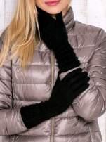 Czarne długie rękawiczki
