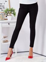 Czarne dopasowane spodnie high waist                                  zdj.                                  1