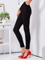 Czarne dopasowane spodnie high waist                                  zdj.                                  3