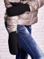 Czarne grube rękawiczki na jeden palec                                  zdj.                                  1