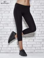 Czarne legginsy sportowe 7/8 z wiązaniem                                                                          zdj.                                                                         1