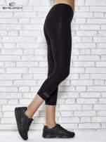 Czarne legginsy sportowe z patką z dżetów na dole                                  zdj.                                  2