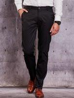 Czarne materiałowe spodnie męskie z kieszeniami                                  zdj.                                  1