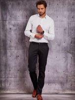 Czarne materiałowe spodnie męskie z kieszeniami                                  zdj.                                  4
