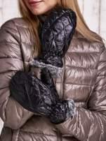 Czarne pikowane rękawiczki z jednym palcem FUNK N SOUL                                  zdj.                                  2