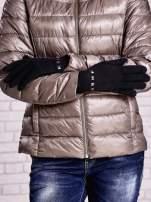 Czarne proste rękawiczki z ćwiekami                                  zdj.                                  2