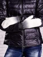 Czarne rękawiczki z dżetami i efektem ombre