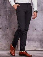 Czarne spodnie męskie w delikatny wzór                                  zdj.                                  5