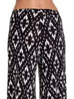 Czarne spodnie palazzo w geometryczne wzory                                  zdj.                                  7