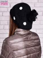 Czarno-biała czapka w grochy                                  zdj.                                  3