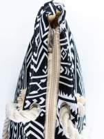 Czarno-biała torba plażowa w azteckie wzory                                  zdj.                                  7