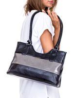 Czarno-szara torebka na ramię                                   zdj.                                  4