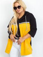 Czarno-żółta narzutka plus size Caroline                                  zdj.                                  1
