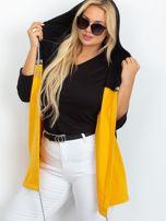 Czarno-żółta narzutka plus size Caroline                                  zdj.                                  6