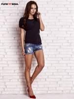 Czarny asymetryczny t-shirt z zapięciem na plecach FUNK N SOUL