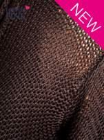Czarny bawełniany kardigan z kieszeniami