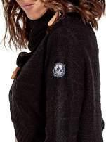 Czarny krótki sweter narzutka z kołnierzem                                  zdj.                                  6