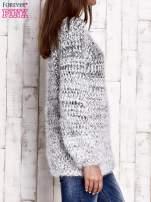 Czarny melanżowy sweter long hair                                  zdj.                                  3