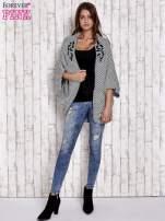 Czarny melanżowy sweter z biżuteryjną aplikacją                                  zdj.                                  2