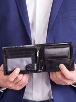 Czarny męski portfel poziomy                                  zdj.                                  9