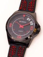 Czarny nowoczesny zegarek męski                                   zdj.                                  3