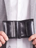 Czarny pionowy elegancki skórzany portfel                                   zdj.                                  7